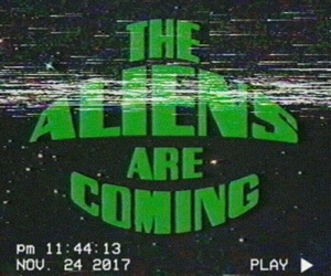 aliens, green, and retro image