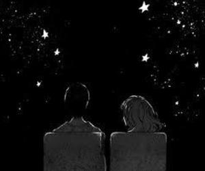 stars, gif, and night image