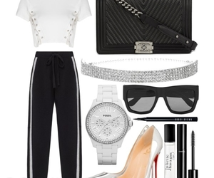 chanel, christian louboutin, and fossil image
