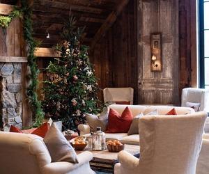 christmas, christmas tree, and snow image