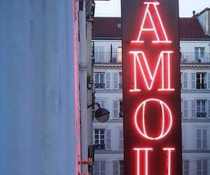 amour, love, and neon image