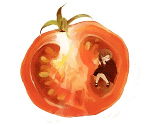 art, illustration, and tomato image
