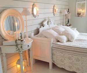 bedroom, shabby, and chic image