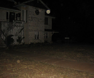 abandoned, night, and southern gothic image