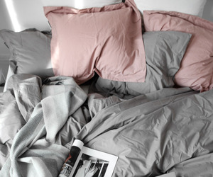 bedroom, pink pillows, and shabby chic image