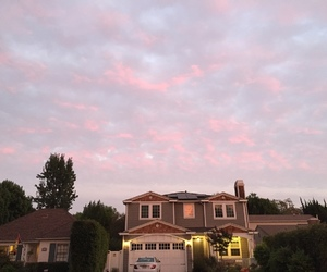 pink, pretty, and sky image