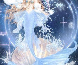 blue and mermaid image