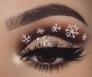 makeup, christmas, and snowflake image