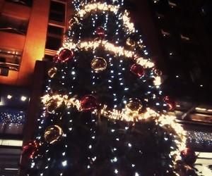 christmas, glow, and christmas tree image
