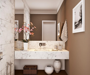 bathroom, black and white, and decoration image