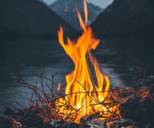autumn, chill, and fire image