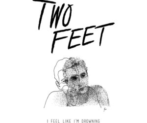 drowning, feel, and feet image