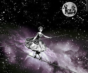 art, Collage, and fullmoon image