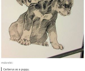 cerberus, drawing, and cute image