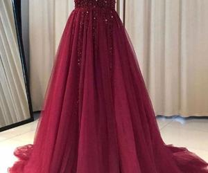 dress, Prom, and burgundy prom dresses image
