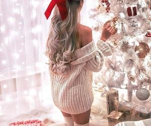 christmas, girl, and winter image