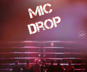 bts, wallpaper, and mic drop image