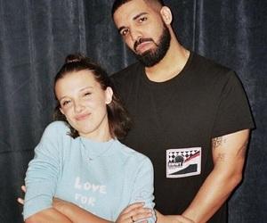 Drake, millie bobby brown, and stranger things image