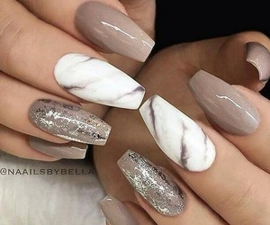 marble, nail art, and nail polish image