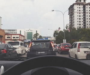 car, driving, and traffic jam image
