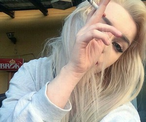 cigarette, ray, and hair blond image