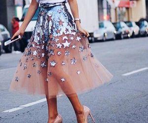 fashion, skirt, and stars image