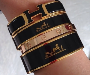 hermes, bracelet, and gold image