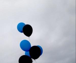 balloons, tumblr, and black image