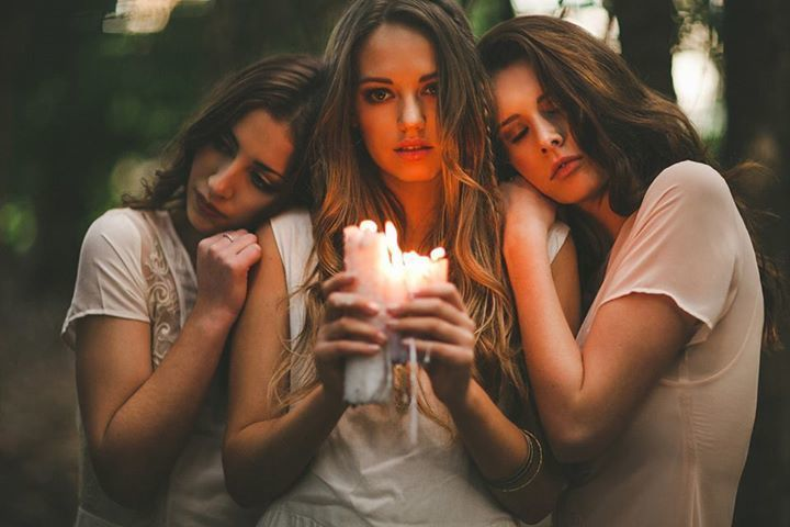 girl, friends, and candle image