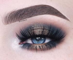 cool, eyebrow, and eye image