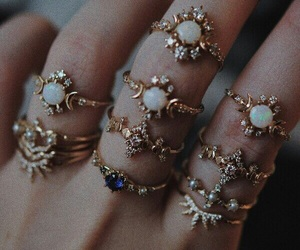 rings, accessories, and aesthetic image