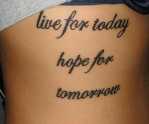 tattoo, hope, and live image
