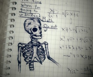 class, drawing, and math image