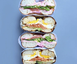 bagel, food, and sandwich image