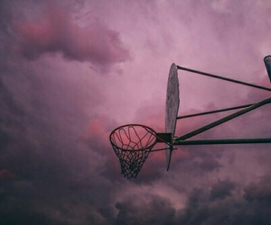 sky, pink, and Basketball image