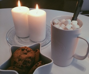baking, candles, and chocolate image