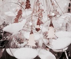 christmas, winter, and balls image