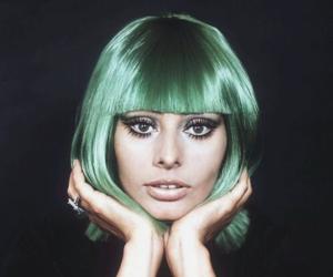 beautiful, green, and make up image