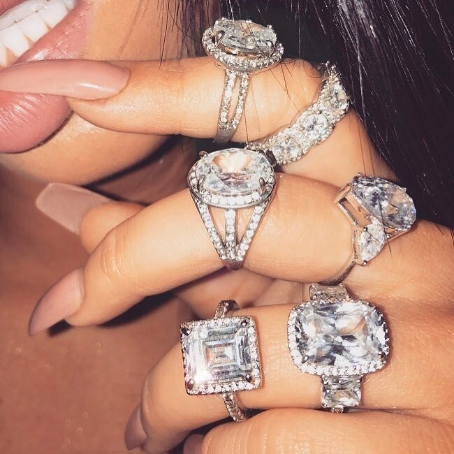 diamonds, luxurious, and engagement image