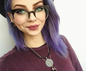 girl, glasses, and indie image