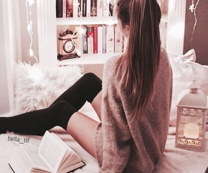 autumn, books, and candle image