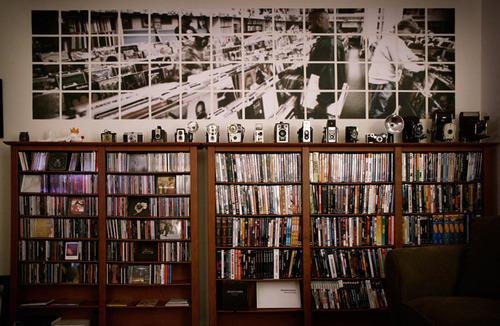 books, camera, and music image