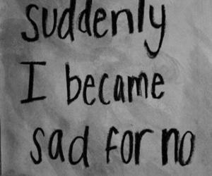 sad, depression, and quotes image