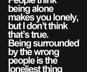 quotes, alone, and people image