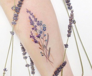 flowers, tattoo, and wildflowers image