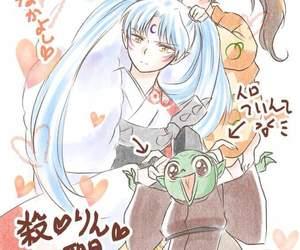 inuyasha, rin, and sesshoumaru image