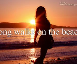 beach, walk, and summer image