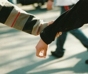 hands, couple, and vintage image