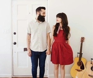 couple, red, and lové image