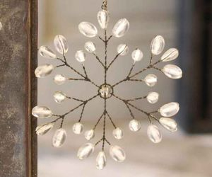 christmas, decoration, and snowflake image